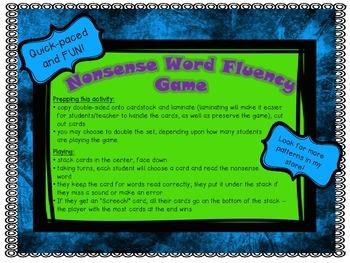 NWF Nonsense Word Fluency_Short Vowel Patterns - Owl Theme