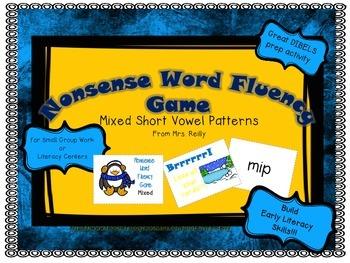 NWF Nonsense Word Fluency_Short Vowel Patterns - Penguin Theme
