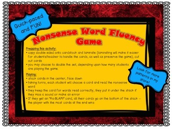 NWF Nonsense Word Fluency_Short Vowel Patterns - SuperHero Theme