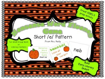 NWF Nonsense Word Fluency_Short /e/ - Fall Theme