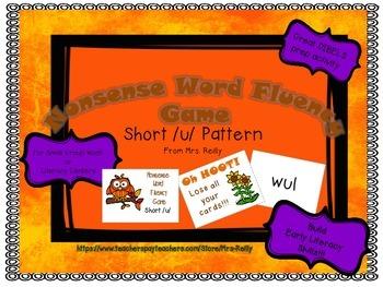 NWF Nonsense Word Fluency_Short /u/ - Fall Theme