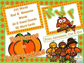 NWF October/Fall (Nonsense Word-Response to Intervention) DIBELS Practice