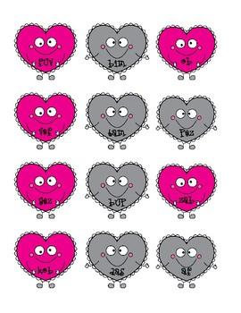 NWF nonsense word fluency intervention game- Valentine's Day Broken Hearts!