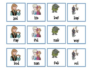 NWF nonsense word fluency intervention game- Frozen Friends!