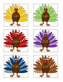 NWF nonsense word fluency intervention game- Gobble Gobble!