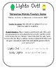 NWF nonsense word fluency intervention game- Christmas Lights Out!