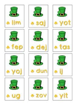 NWF nonsense word fluency intervention game- St. Patrick's Lucky Leprechauns!