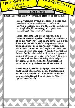 Engage NY Math - 6th Grade, Module 2, Topic A, Lessons 1-4