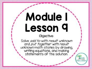 Engage NY (Eureka Math) Presentation 1st Grade Module 1 Lesson 9