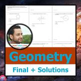 NY Geometry Final Exam + Student-Ready Solutions (NY Regen