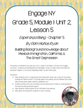 Esperanza Rising - Engage NY Module 1: Unit 2, Lesson 5