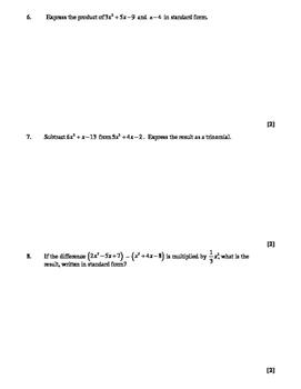 NY Regents Exam Common Core Algebra Review Book