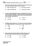 NY Regents Exam Common Core Algebra - Word Problems Review Packet