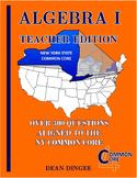 NY State Common Core Algebra Review - Teacher Edition