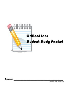 NYS Comprehensive English Regents Exam How to Write a Critical Lens Packet