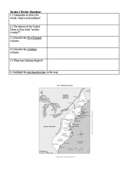 US History Regents Review: The Colonies and the American Revolution