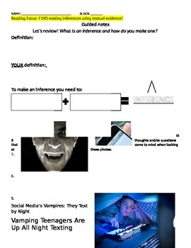 Making Inferences - expository article