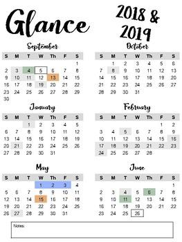 Nyc Doe 2018 2019 Calendar By Ms P From Nyc Teachers Pay Teachers