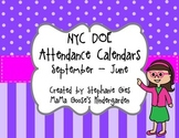 NYC DOE Back to School Monthly Attendance Calendars/Forms