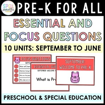 NYC DOE Essential and Focus Questions (PREK FOR ALL)