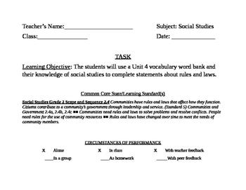 NYC DOE Grade 2 April Bulletin Board Task Card