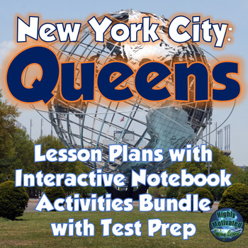 NYC Queens Lesson Plans, Interactive Notebook, & Test Prep MEGA Bundle