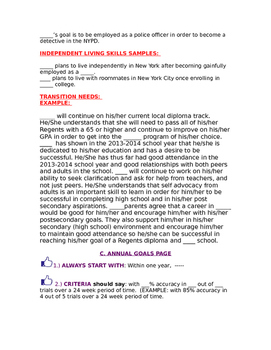 NYC SESIS IEP Cheat Sheet (Samples Included)