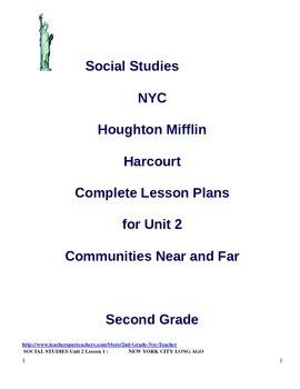 NYC Social Studies 2nd Grade Unit 2 Lesson Plans (BUNDLED)