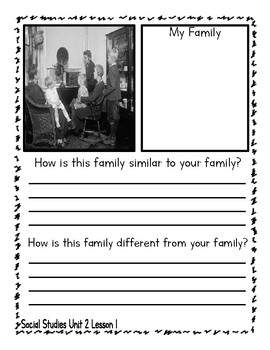 NYC Social Studies Grade 1 - Unit 2 - Families Now and Long Ago