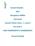 NYC Social Studies 2nd Grade Unit 1 Lesson Plans (BUNDLED)