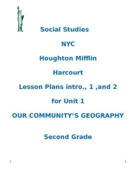 NYC Social Studies 2nd Grade Unit 1 Lesson Plans (BUNDLED)