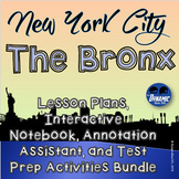 NYC The Bronx Lesson Plan and Interactive Notebook Activities MEGA Bundle