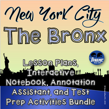 NYC The Bronx Lesson Plan and Interactive Notebook Activit