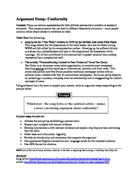 NYC sample performance assessment 12th grade