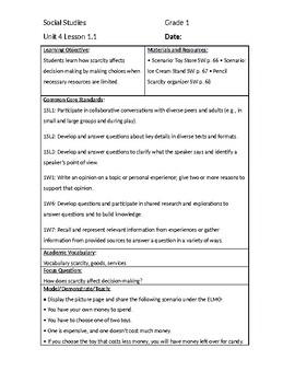 NYCDOE Grade 1 Passport to Social Studies Unit 4 All Lesson Plans