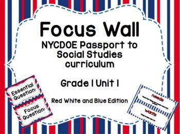 NYCDOE Passport to Social Studies Core Curriculum Focus Wall (RW&B Edition)