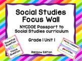 NYCDOE Passport to Social Studies Core Curriculum Focus Wall (Rainbow Edition)