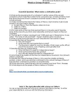 NYCDOE Passport to Social Studies Grade 5: Mexico Case Study Group Project