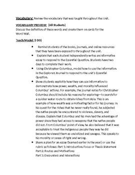 NYCDOE Passport to Social Studies Unit 2: 5th Gr European Exploration Lesson #10