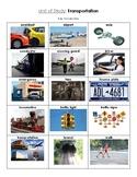 NYCDOE Pre-K Unit: Transportation Key Vocabulary Words