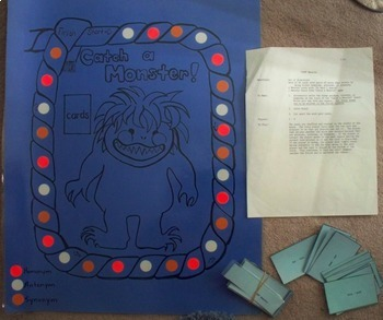 NYM Monster Game (for Homonyms, Synonyms, Antonyms)