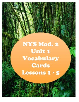 NYS 3rd Grade Common Core ELA Module 2 Vocabulary Cards