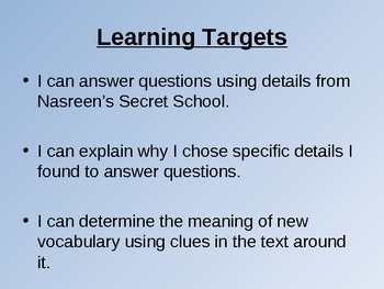 NYS 3rd Grade Common Core ELA PowerPoint - Nasreen's Secret School