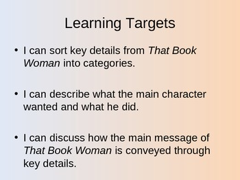 NYS 3rd Grade ELA Common Core Lesson - That Book Woman