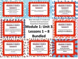NYS 3rd Grade ELA Common Core Module 1 Unit 3 Lessons 1 - 8 Bundle