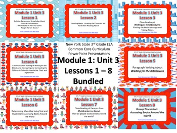 NYS 3rd Grade ELA Common Core Module 1 Unit 3 Lessons 1 -