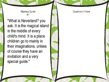 POWERPOINT LESSON Peter Pan Module 3, Unit 1, Lesson 1 for NYS 3rd Grade