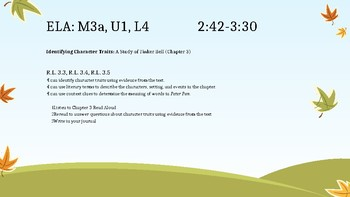 3rd Grade Peter Pan ELA Module 3, Unit 1 Slides *EngageNY Aligned*