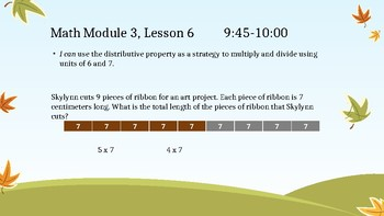 3rd Grade Math Module 3 Multiplication/Division Word Problems *EngageNY Aligned*