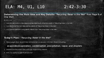 NYS 3rd Grade Water ELA Module 4, Unit 1 Slides *EngageNY Aligned*